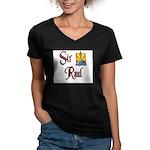 Sir Raul Women's V-Neck Dark T-Shirt