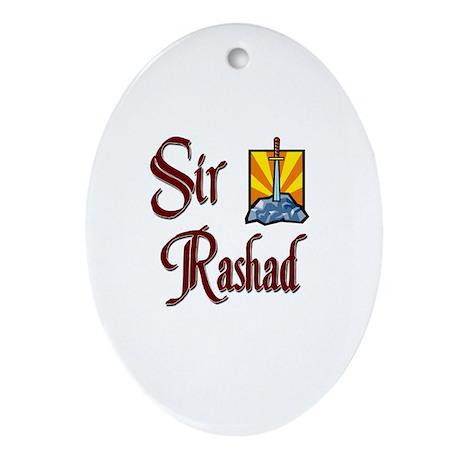Sir Rashad Oval Ornament
