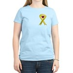 Keep My Sailor Safe Yellow Ribbon Women's Pink T-S