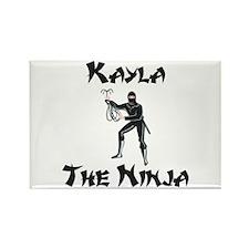 Kayla - The Ninja Rectangle Magnet