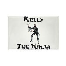 Kelly - The Ninja Rectangle Magnet