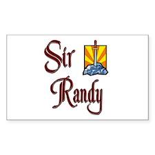 Sir Randy Rectangle Decal