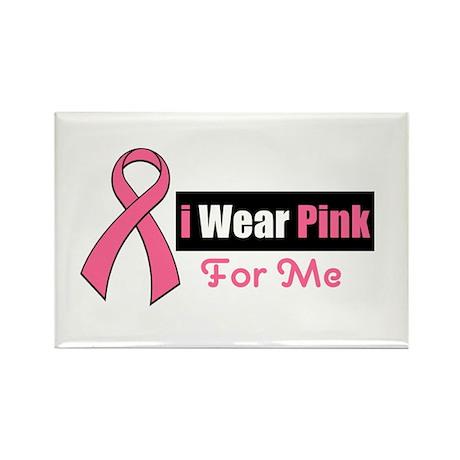 I Wear Pink Rectangle Magnet (10 pack)