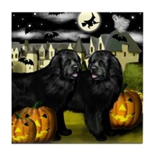 Newfoundland DOGS HALLOWEEN Tile Coaster