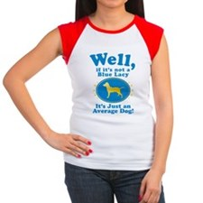 Blue Lacy Women's Cap Sleeve T-Shirt