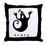 scary! Throw Pillow