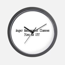 Anger Management Classes Piss Wall Clock