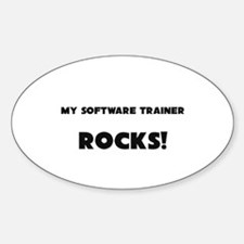 MY Software Trainer ROCKS! Oval Decal
