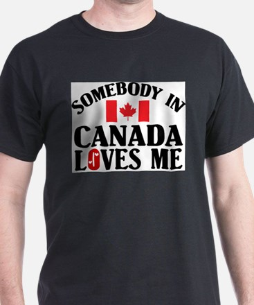 Somebody In Canada Ash Grey T-Shirt
