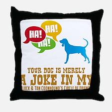 Black & Tan Coonhound Throw Pillow