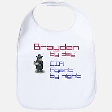 Brayden - CIA Agent by Night Bib