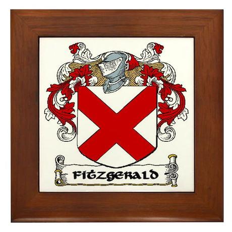 Fitzgerald Coat of Arms Framed Tile