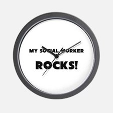MY Social Worker ROCKS! Wall Clock