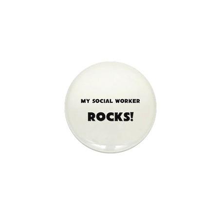 MY Social Worker ROCKS! Mini Button