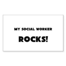 MY Social Worker ROCKS! Rectangle Decal