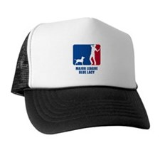Blue Lacy Trucker Hat