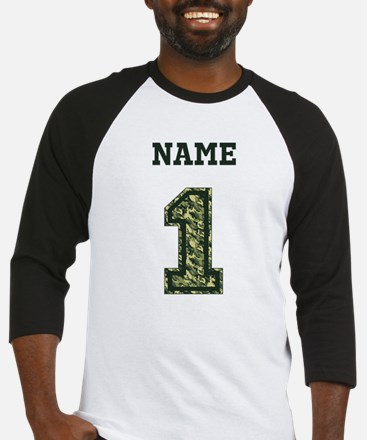 Personalized Camo 1 Baseball Jersey