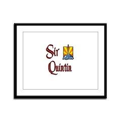 Sir Quintin Framed Panel Print