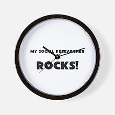 MY Social Researcher ROCKS! Wall Clock