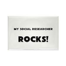 MY Social Researcher ROCKS! Rectangle Magnet