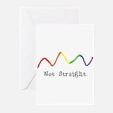 Riyah-Li Designs Not Straight Greeting Cards (Pk o
