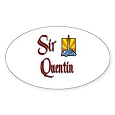 Sir Quentin Oval Decal