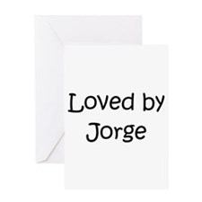 Unique Jorge name Greeting Card