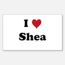 I love Shea Rectangle Decal