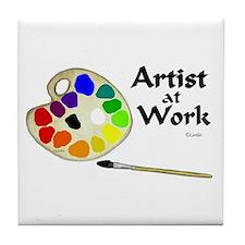 Artist at Work Tile Coaster