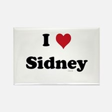 I love Sidney Rectangle Magnet
