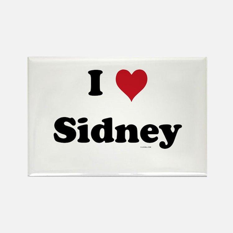 I love Sidney Rectangle Magnet