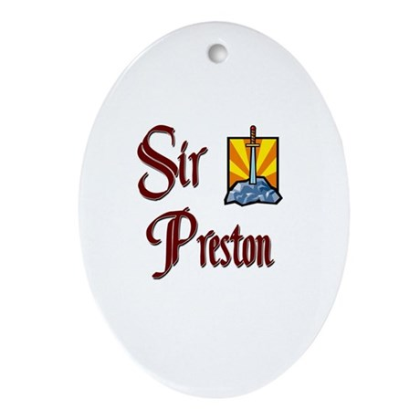 Sir Preston Oval Ornament