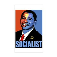 Socialist Obama Rectangle Decal