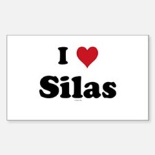I love Silas Rectangle Decal