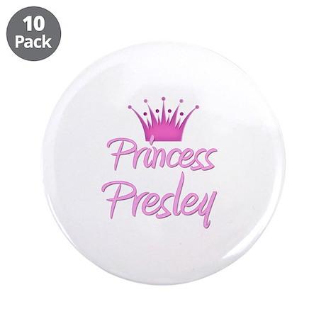 "Princess Presley 3.5"" Button (10 pack)"