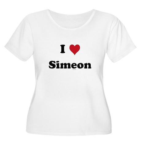 I love Simeon Women's Plus Size Scoop Neck T-Shirt