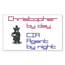 Christopher - CIA Agent by Ni Rectangle Decal