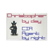 Christopher - CIA Agent by Ni Rectangle Magnet