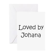 Cute Johana Greeting Card