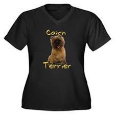 Cairn Terrier Women's Plus Size V-Neck Dark T-Shir