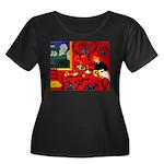 Harmony in Red Women's Plus Size Scoop Neck Dark T