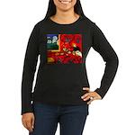 Harmony in Red Women's Long Sleeve Dark T-Shirt