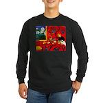 Harmony in Red Long Sleeve Dark T-Shirt