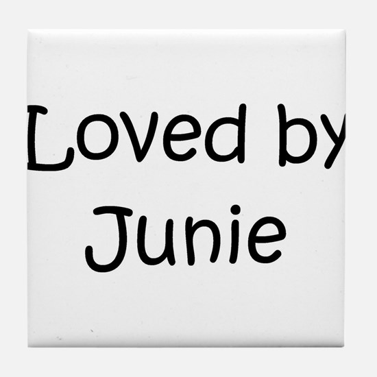 Funny Junie Tile Coaster