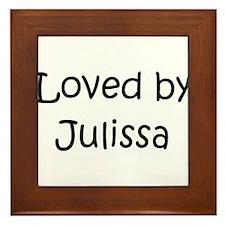 Cute Julissa Framed Tile