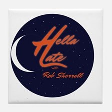 Funny Late late show Tile Coaster