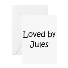 Unique Jules name Greeting Card