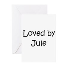 Cool Jules name Greeting Cards (Pk of 10)