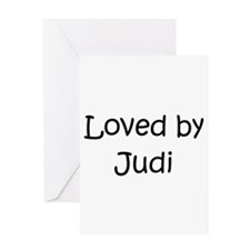 Cute Judi Greeting Card