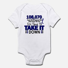 Take Down Colon Cancer 4 Infant Bodysuit